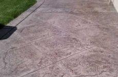 Stamped Concrete Patio Lemon Grove